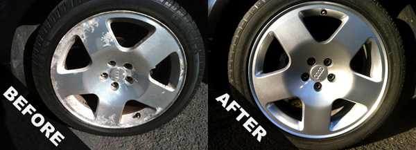 Recondition alloy wheels